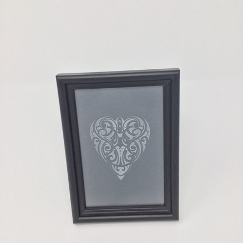 Etched Glass w Frame