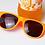 Thumbnail: Orange Cream SKI Sunglasses