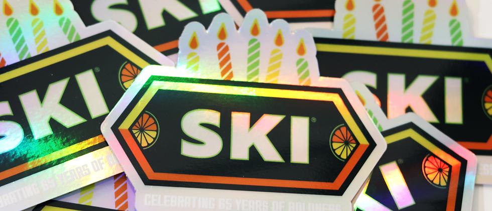 SKI Celebrating 65 Years of Boldness Holographic Sticker