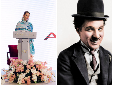Kiera Chaplin, granddaughter of Charles Chaplin, on an official visit in the Kingdom of Bahrain