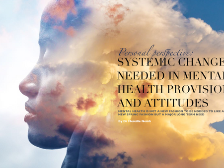 Systemic Change Needed in Mental Health Provision and Attitudes