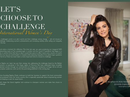 Let's Choose to Challenge -International Women's Day -Zineb Faress