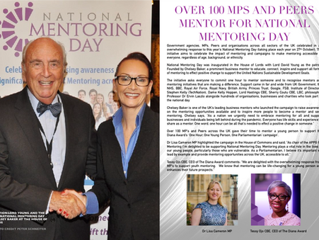 Over 100 MPs and Peers Mentor for National Mentoring Day