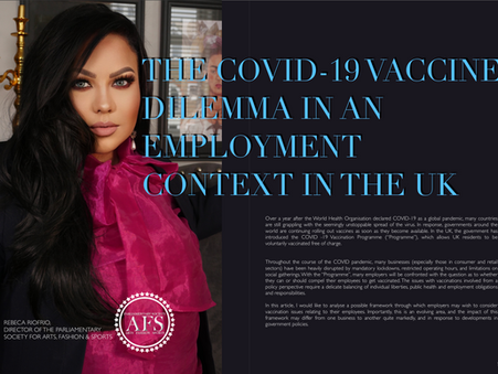 The COVID-19 Vaccine Dilemma in an employment context in the UK