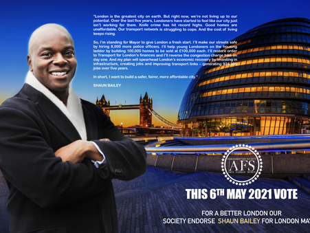 Shaun Bailey for London Mayor 2021
