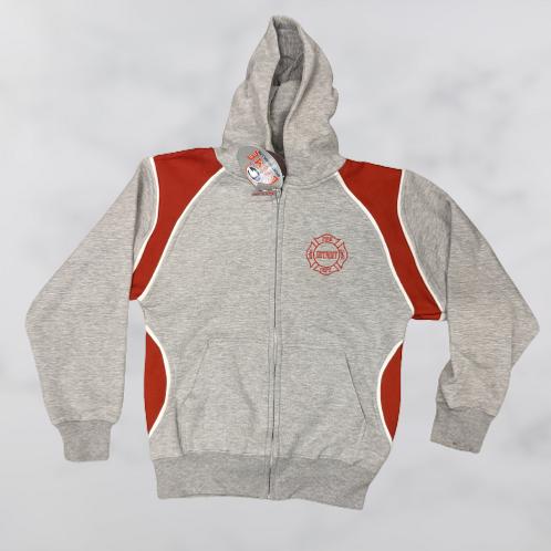 Youth Zip Hoodie red/grey