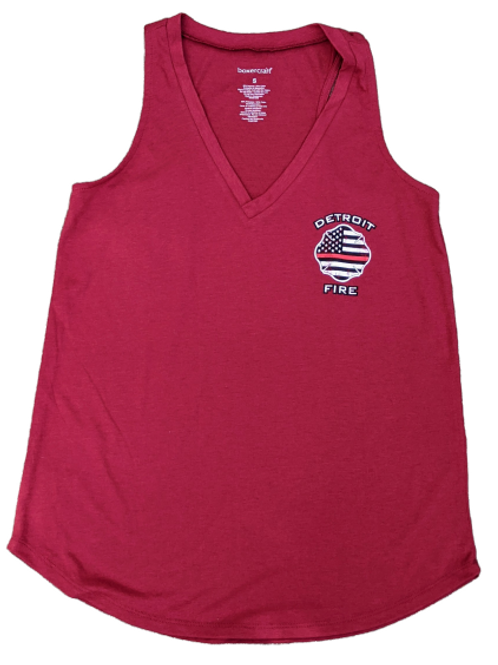 Thin Red Line Tank Red