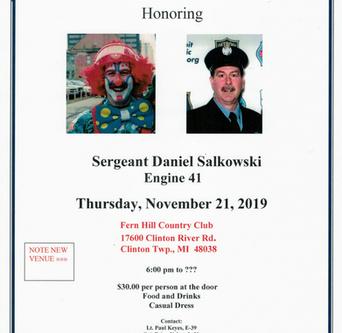 **New Venue** Sgt Dan Salkowski