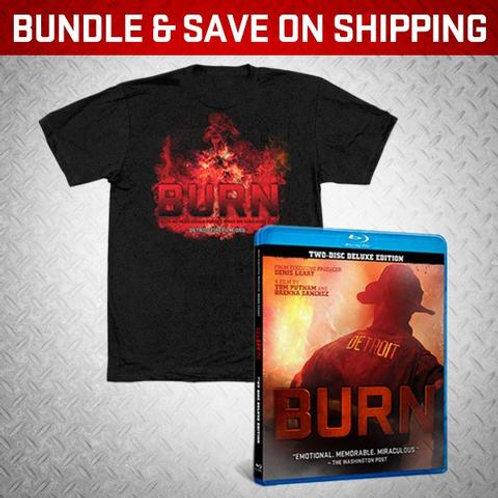 BURN Blu Ray/Burn Shirt short sleeve