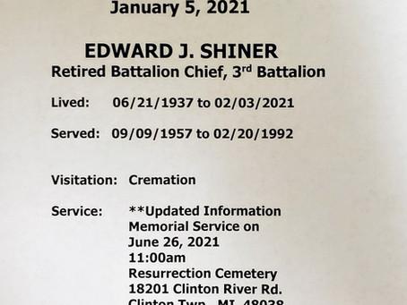 ***Update for Edward J. Shiner
