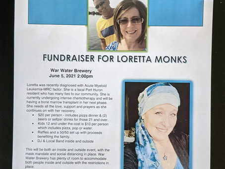 Fund raiser for active Sgt. Tom Monks wife.