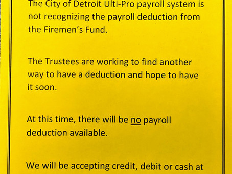 Payroll deduction on hold