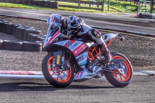Testing KTM British Junior Cup bike