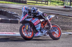 Testing KTM British Junior Cup bike