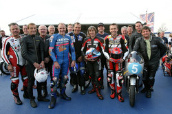 Riders in 60 Years of Silverstone Classic Parade