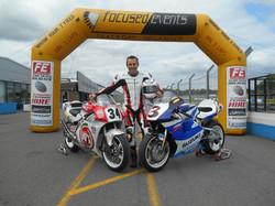 Schwantz and Roberts Jnr bikes