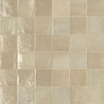 Rose Bay Taupe Gloss Ceramic Zellige Tile 100x100x10mm