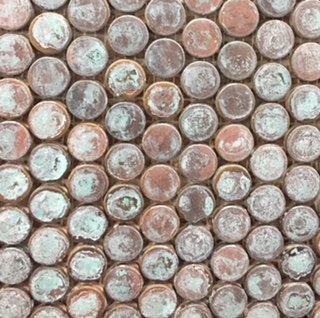 Ancient Copper Penny Mosaic 315x290mm