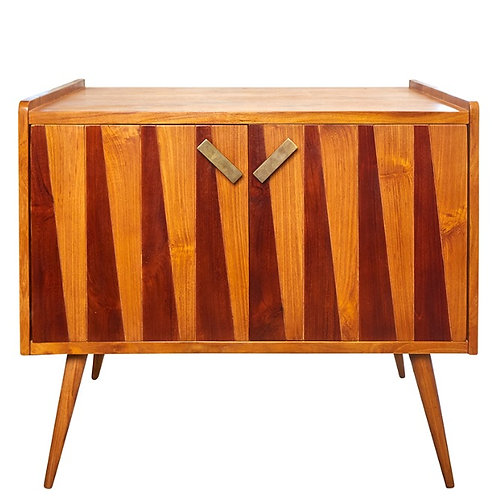 Retro Natural Teak With Antique Stain Drawers Behind 1 Cupboard