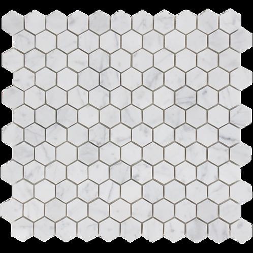 Aruba Carrara C Gioia Venato Honed Hexagon 280x295x10mm