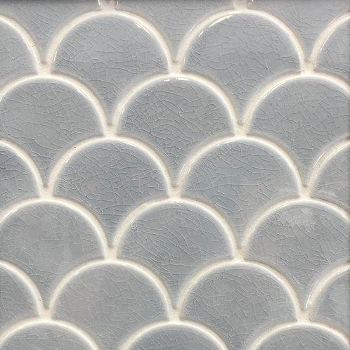 Collaroy Storm Grey Porcelain Fan Mosaic 270x290mm