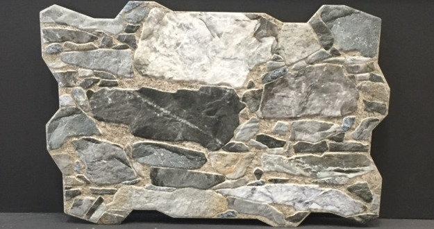 Wall Rock Gris Interlocking Porcelain 400x600x10mm