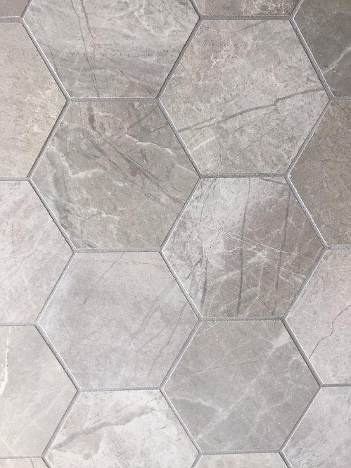 Riviera Ice Italian Porcelain Hexagon 390x370x10mm
