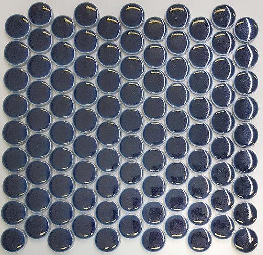 Circo Navy Gloss Large Penny Round Mosaic 280x307x7mm