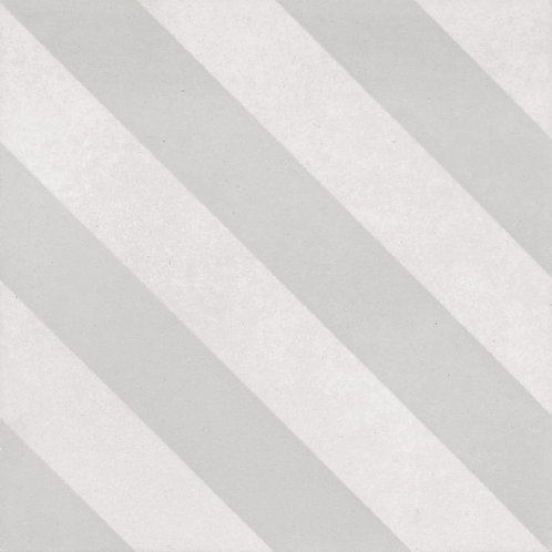 Artisan Milan Mist Diagonal Stripe Pattern Matt 200x200x7mm