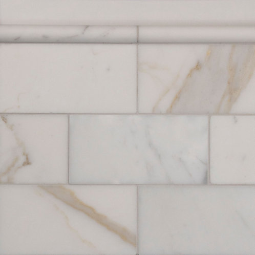 Calacatta Gold Honed Subway 150x75x10mm With 1mm Arris