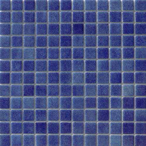 Vision Night Navy Glass Pool Mosaic 315x315x4mm (25x25mm chip) Dot Mesh