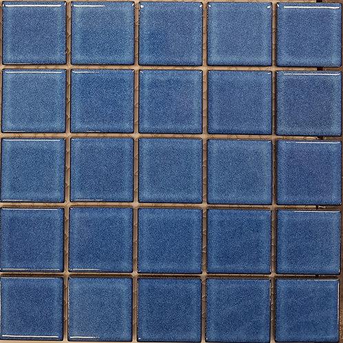 Mid Blue Porcelain Mosaic 297x297x4mm (47x47mm chip)