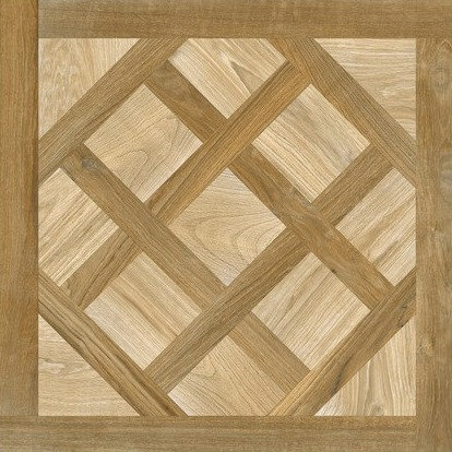 Nut Deco Parquetry Italian Rectified Timber Look Porcelain Tile 750x750x10mm