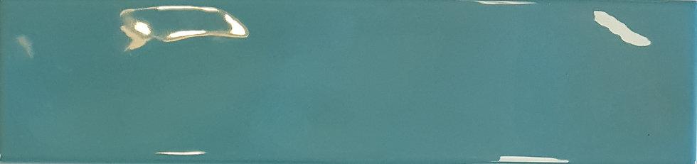 Miami Light Green Wave Ceramic Gloss Pressed Edge Subway 68x280x7mm