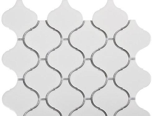 Oman Arabesque White Matt Lantern Mosaic 246x271x6mm