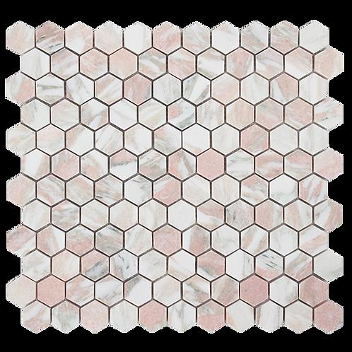 Fiori Rosa Honed Hexagon Mosaic 293x285x10mm