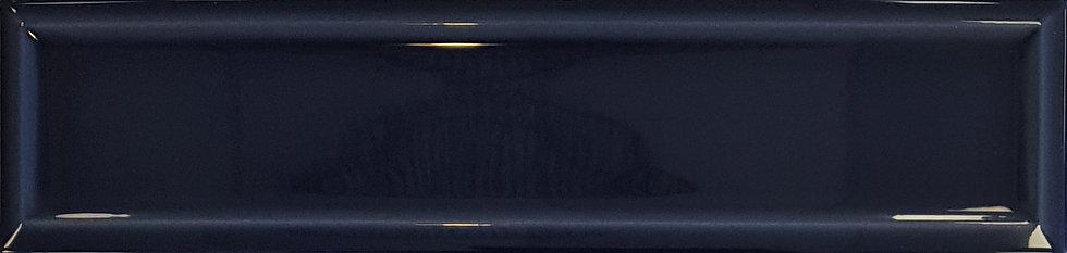 Miami Navy Frame Ceramic Gloss Pressed Edge Subway 68x280x7mm