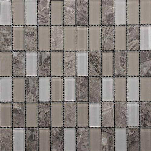 Crystal Stone Dark Grey/White Glass Mix