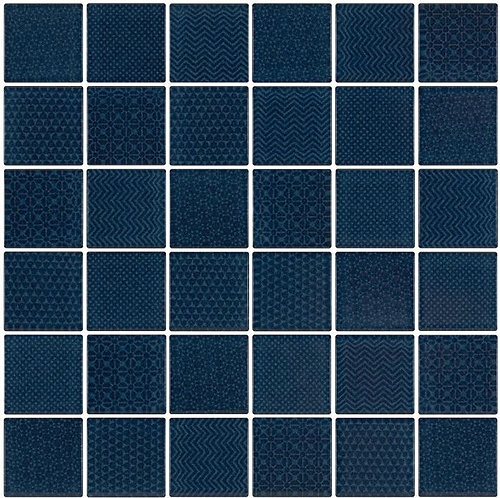 Cape Cod Azure Glazed Porcelain Mosaic 297x297x4mm (47x47mm chip)