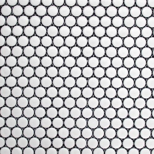 Pennylane Penny Round Matt White Mosaic 315x292x5mm