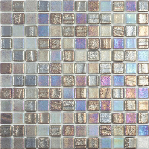 Vision Blend Grey Glass Pool Mosaic 315x315x4mm (25x25mm chip) Dot Mesh