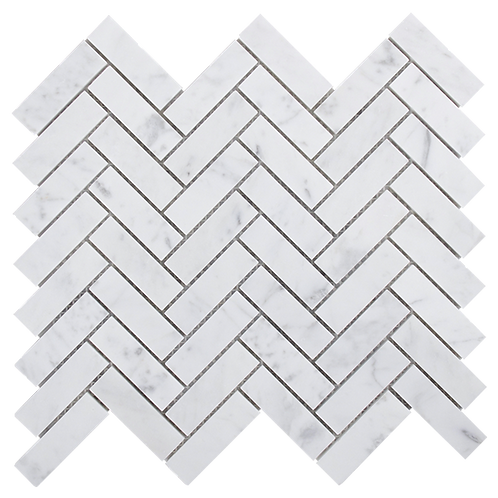 Aruba Carrara C Honed Herringbone 248x280x10mm (Chip 20x64mm)