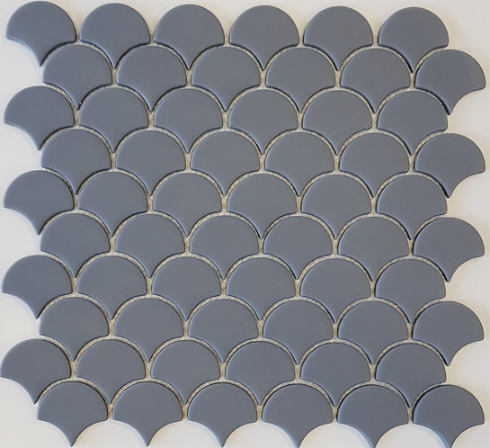 Dory Denim Matt Enamel Glass Fan Mosaic 288x305x5mm