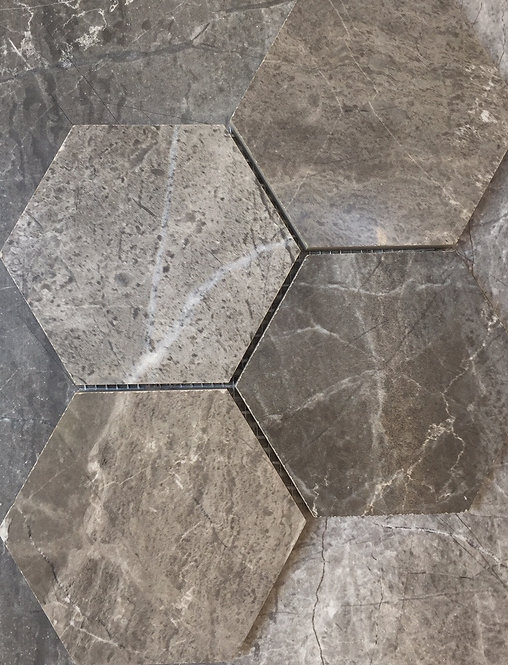 Riviera Dark Grey Italian Porcelain Hexagon 390x370x10mm