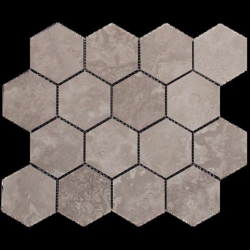Silver Cloud 70x70 chip Honed Hexagon 289x250x10mm