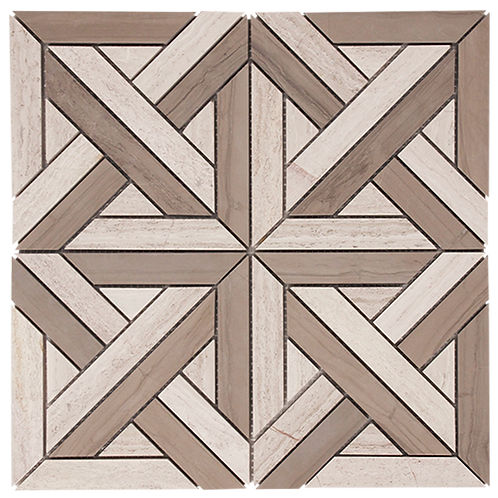 Stone Parquet Driftwood In Athens Grey Honed 305x305x10mm