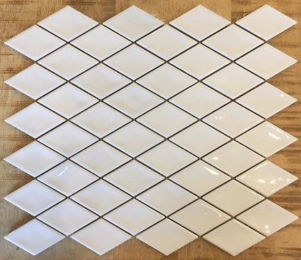 Gloss White Diamond Handmade Ceramic Mosaic 282x324mm