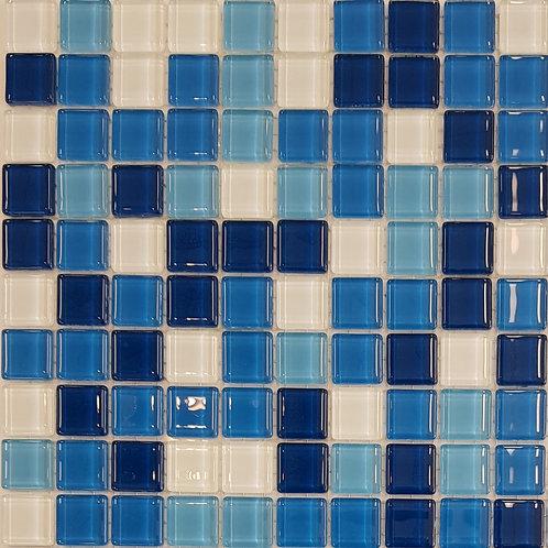 Hayman Island Glass Mosaic 320x320x4mm (20x20mm chip)