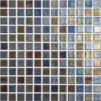 Vision Dark Golden Bronze Glass Pool Mosaic 315x315x4mm (25x25mm chip) Dot Mesh