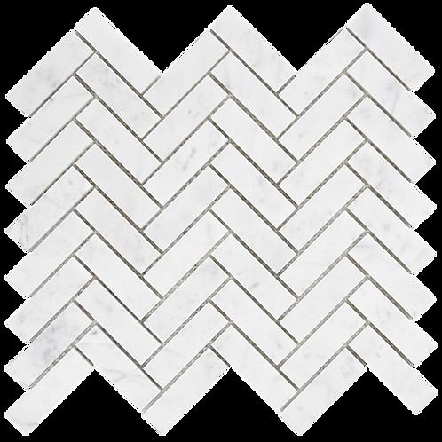 Aruba Carrara C Venato Honed Herringbone 280x248x10mm